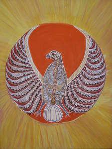 チキンホークの絵画