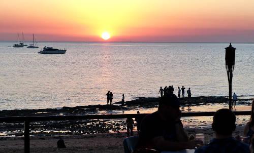 Trailor Boat Clubから見えるファニーベイの夕日