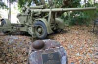 屋外に展示してある戦車
