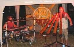 ディジュリドゥバンドのパフォーマンス